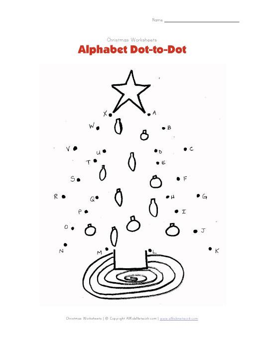 Number Names Worksheets » Letter Dot To Dot - Free Printable ...