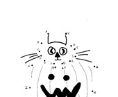 Pumpkin with a Cat Dot to Dot (by letters)