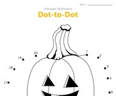 Halloween Pumpkin Dot to Dot