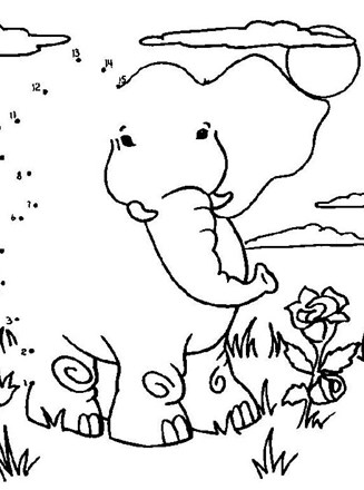 Dot To Dot Elephant