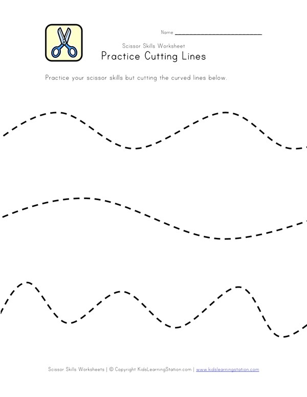 Scissor Skills - Practice Cutting Lines | All Kids Network