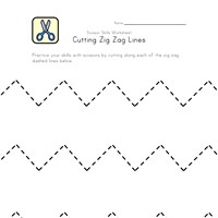 cut zig zag lines worksheet