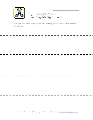 cutting lines worksheet