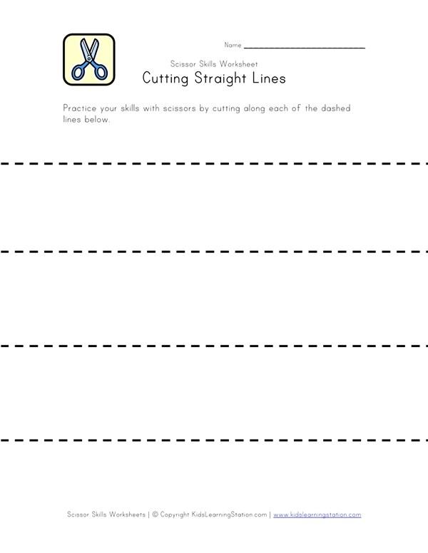 Scissor Skills Practice Cutting Lines All Kids Network