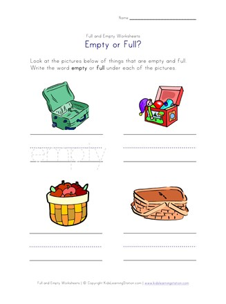 empty or full worksheet