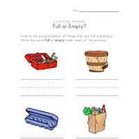 full or empty worksheet