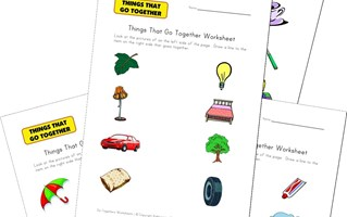 matching go togethers worksheets