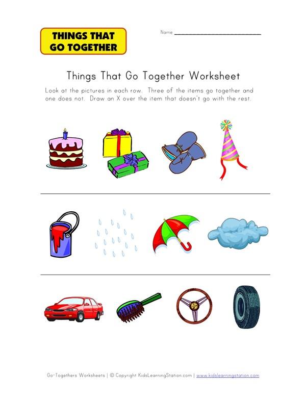 What Doesnt Go Together Worksheet 1 All Kids Network