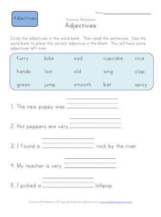 Complete the Sentences Worksheet 1 | All Kids Network