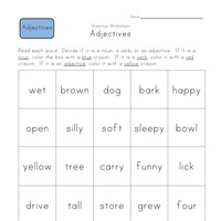 First Grade Adjective Worksheets | All Kids Network