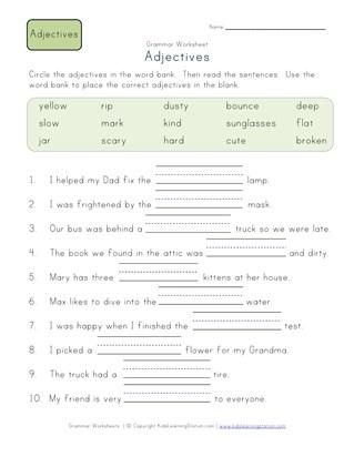 Second grade adjective worksheets all kids network ibookread Read Online