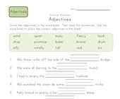 Second Grade Adjective Worksheets | All Kids Network