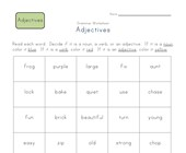 2nd grade identifying adjectives worksheet
