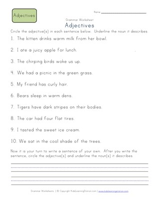 Second grade adjective worksheets all kids network ibookread ePUb