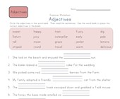 3rd grade adjectives worksheet