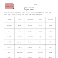 3rd grade color the adjectives worksheet