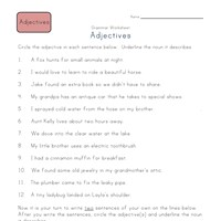 Third Grade Adjective Worksheets | All Kids Network