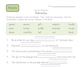 2nd grade fill in the adverbs worksheet
