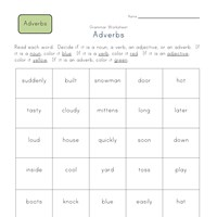 Worksheets Adverb Worksheets 2nd Grade 2nd grade adverbs worksheets all kids network