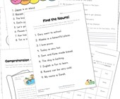 second grade noun worksheets