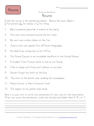 Person place or thing worksheet 2 all kids network ibookread Read Online