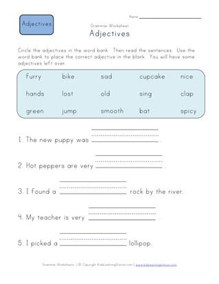 First grade adjective worksheets all kids network ibookread Read Online