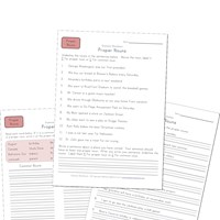 third grade proper noun worksheets