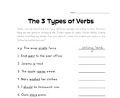 3 types of verbs worksheet