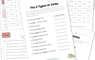 third grade verbs worksheets