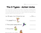 circle the action verbs worksheet