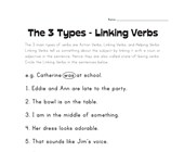 circle the linking verbs worksheet