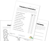 transitive intransitive verbs worksheets