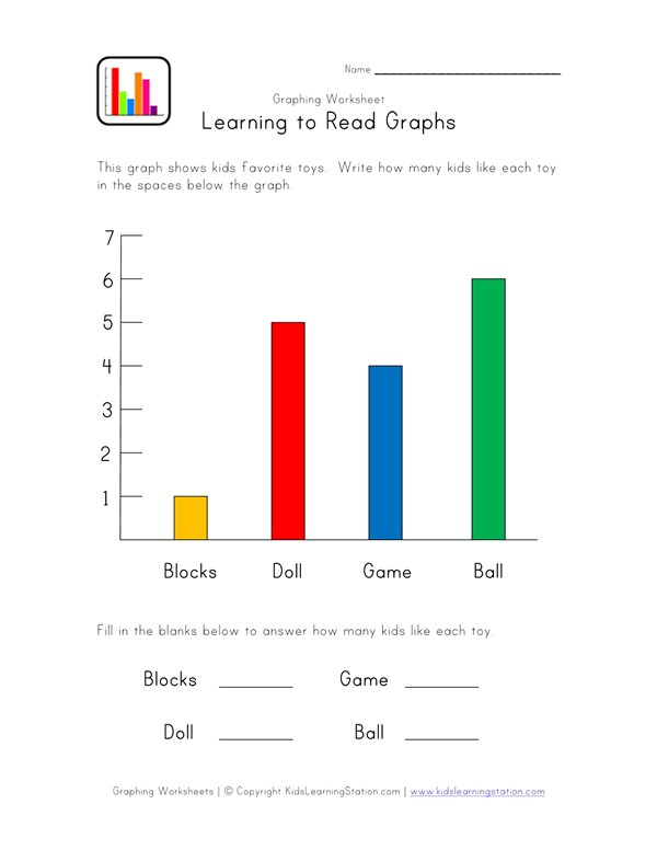 Bar Graph Worksheet with Toys Theme | All Kids Network