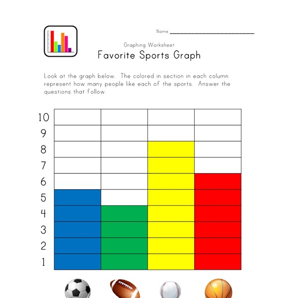 graphing worksheet with sports theme all kids network. Black Bedroom Furniture Sets. Home Design Ideas