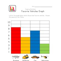 vehicles graphing worksheet
