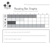 bar graph worksheet colors