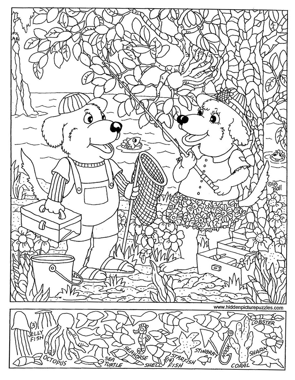 Worksheets Hidden Picture Worksheets hidden pictures page print your fishing all kids network