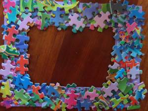 100th day puzzle piece picture frame all kids network