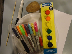 100 day potato patterns craft materials