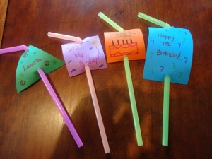 birthday straws craft