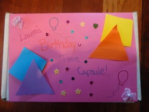 birthday time capsule craft