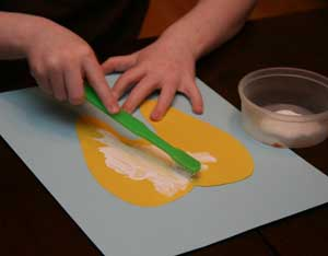 painting tooth craft