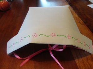 bonnet dress up craft step 8