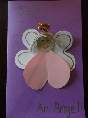 angel kindness card craft