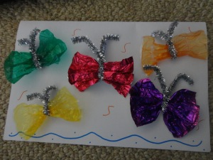 homemade butterfly card craft