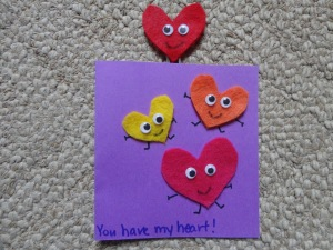 heart card bookmark craft
