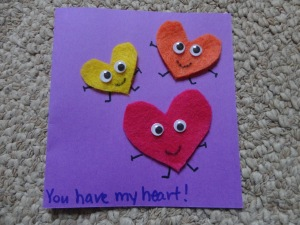 heart homemade card