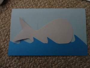 whale card craft
