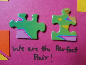 puzzle piece greeting card craft