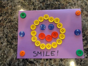 smile button card craft